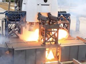 Uno static-fire test su un precedente Falcon 9