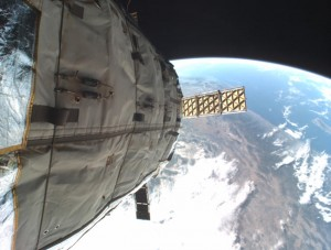 Immagine ripresa da una camera di bordo di Genesis I Credits: Bigelow Aerospace
