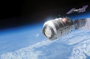 Rendering artistico di Cygnus nei pressi della ISS. (c) Orbital Sciences Corporation