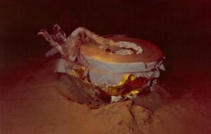 La terza capsula di rientro del satellite KH9-1 HEXAGON sul fondo dell'oceano