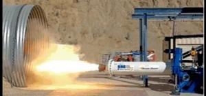 Test del motore ibrido del Dream Chaser (C) SNC