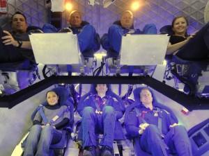 Prove di disposizione interna dei sedili per Dragon. (c) SpaceX