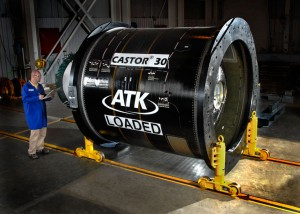 Motore ATK Castor del secondo stadio di Antares. (c) Orbital Sciences Corporation