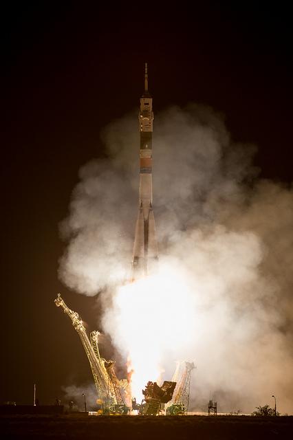 Il lancio della Soyuz TMA-09M