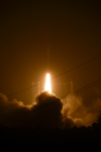 Il Vega in partenza per la missione VV02. (c) ESA-S. Corvaja