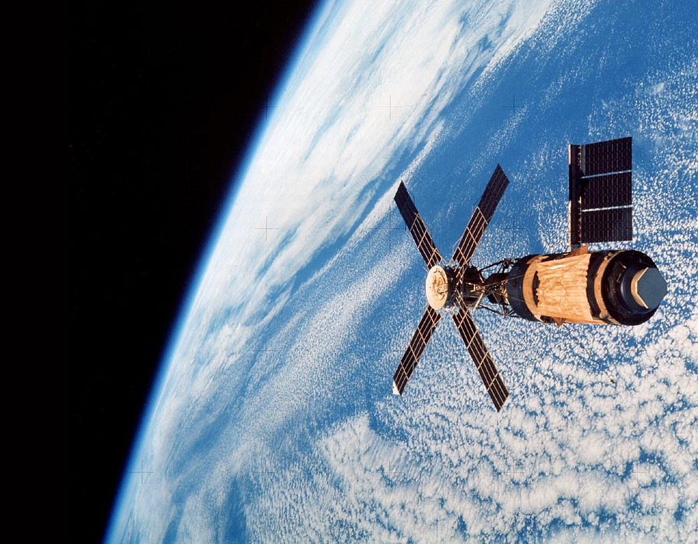 Lo Skylab. Fonte: NASA, scansione di Kipp Teague
