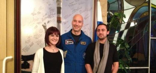 Ilaria Sardella, Luca Parmitano e Norberto Cioffi a Star City. Fonte: Norberto Cioffi