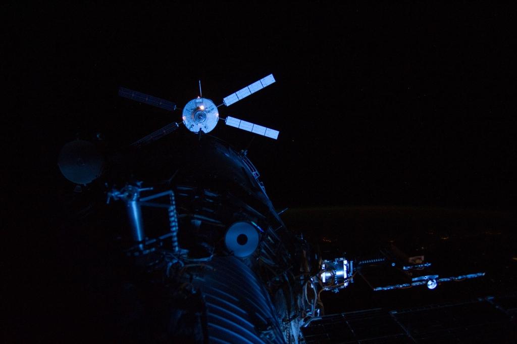 L'ATV 3 Edoardo Amaldi durante la manovra di attracco alla ISS
