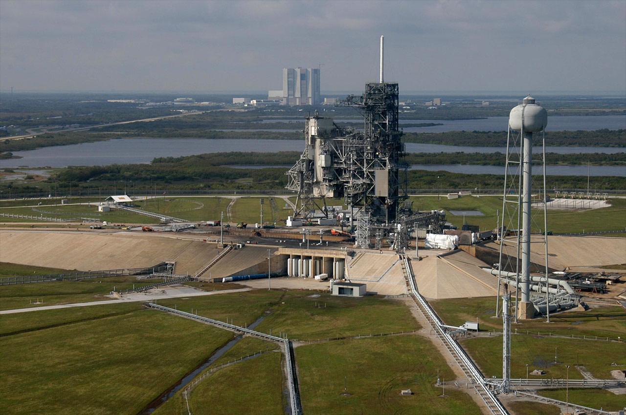 Il pad 39A del Kennedy Space Center all'epoca del programma STS Credits: NASA