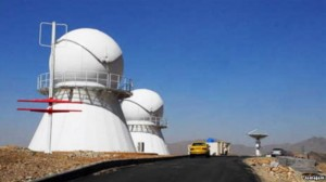 la nuova stazione di tracking satellitare Iraniana (C) IRNA