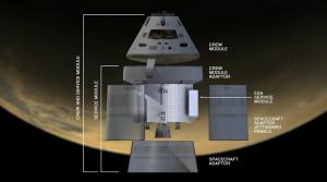 La posizione del Service Module derivato dal modulo propulsivo di ATV così come mostrato a NASA TV durante la conferenza stampa del 16/01/2013 - Credits: NASA Tv