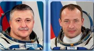 Fyodor Yurchikhin (sinistra) e Alexander Misurkin (destra). (c) NASA
