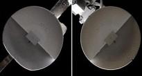 a sin. si nota la deformazione dell'antenna KURS rispetto ad una normale (C) NASA, nasaspaceflight.com