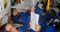 Gli astronauti Samantha Cristoforetti e Anton Shkaplerov nel simulatore Soyuz a Star City. Fonte: Samantha Cristoforetti