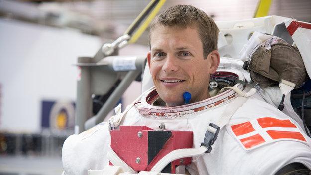 Andreas Mogensen durante l'addestramento EVA (Credits: NASA/ESA-J.Blair)