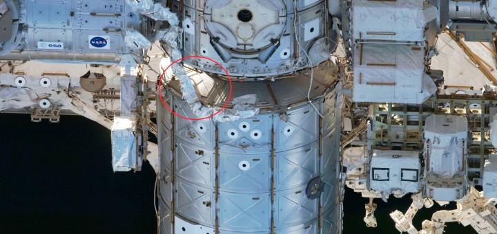 La zona della ISS vicino al Node 1. Fonte: NASA
