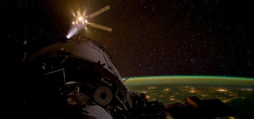 ATV-3 Johannes Kepler manovra i thruster poco prima dell'attracco alla ISS. Fonte: NASA