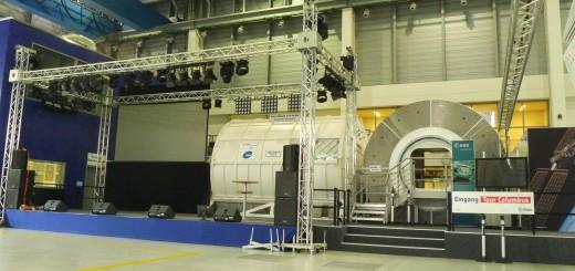 Il mockup di Columbus all'EAC dell'ESA a Colonia. Fonte: Samantha Cristoforetti