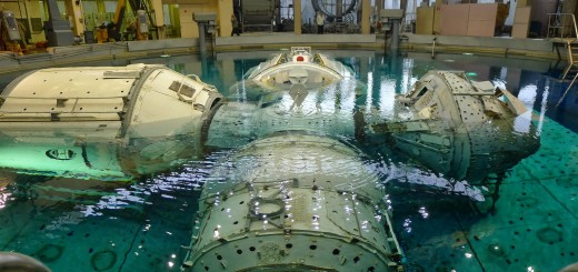 Mockup della sezione russa della ISS all'Hydrolab di Star City. Fonte: Samantha Cristoforetti