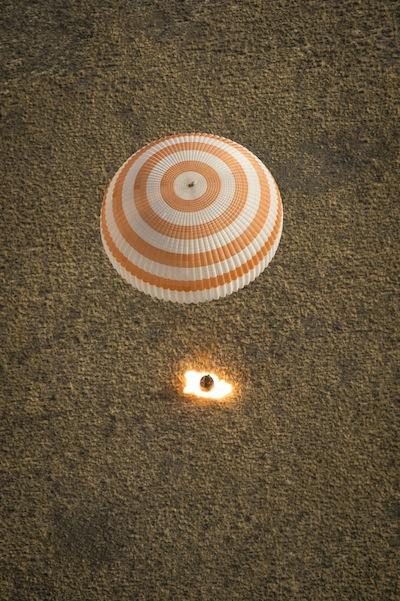 L'atterraggio della Soyuz TMA-08M