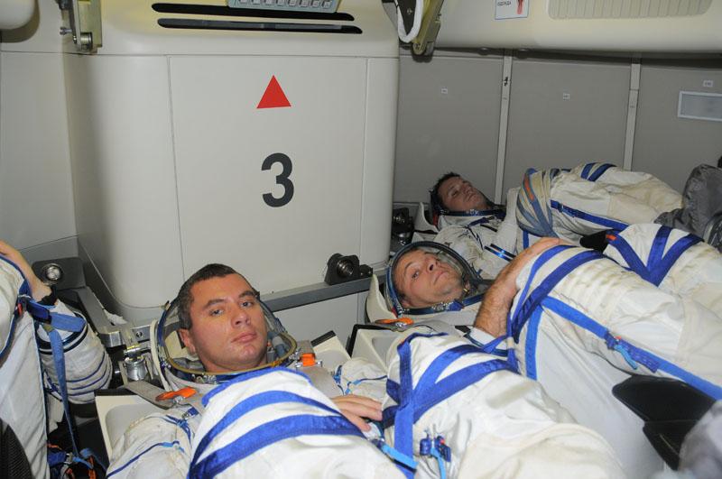 L'interno del modulo di rientro della nuova capsula Russa. Credits: Energia