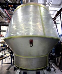 La caspual Dragon per il Pad Abort test. Credit:: SpaceX.