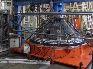 Il modello strutturale durante i test