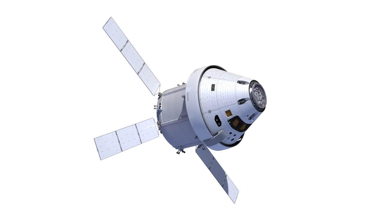 Immagine artistica di Orion con modulo di servizio derivato da ATV. Credits: NASA