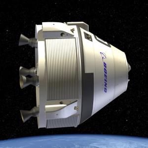 Rendering della capsula CST-100. Credit: Boeing.