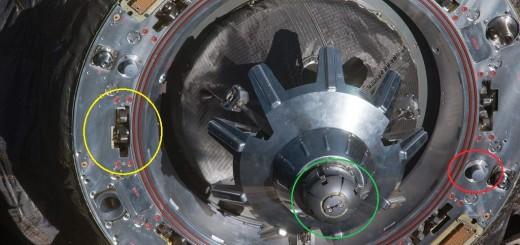 Il meccanismo di docking di una Soyuz. Fonte: NASA