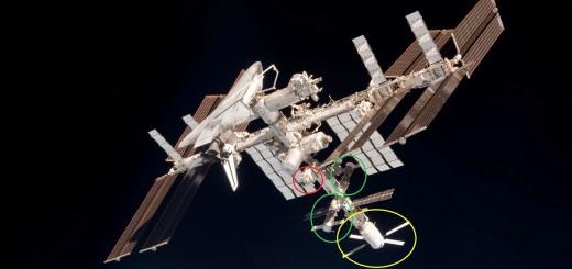 I boccaporti di attracco del segmento russo della ISS. Fonte: NASA/Samantha Cristoforetti
