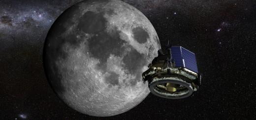 Rendering artistico di MX-1 nei pressi della Luna. (c) Moon Express