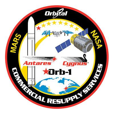 Il Patch ufficiale della missione CRS Orb-1. Credit: NASA.