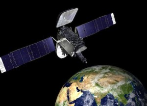 elaborazione artistica del satellite Thaicom 6. (C) Orbital Science Co.