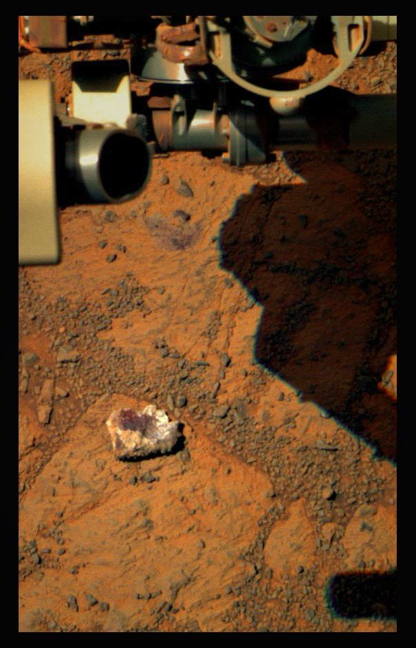 """Ricolorazione della roccia """"Jelly Donut"""" da parte di Stuart Atkinson (https://twitter.com/mars_stu) - (C) Stuart Atkinson / http://roadtoendeavour.wordpress.com/"""