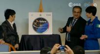 Presentazione del logo della missione Futura di Samantha Cristoforetti. Roma, 22 gennaio 2014. Fonte: ASI
