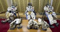 Tute Sokol in attesa di essere indossate per una simulazione Soyuz. Fonte: Gagarin Cosmonaut Training Center