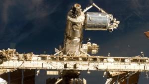 Installazione del Modulo Columbus sulla ISS: Credit: ESA/NASA.