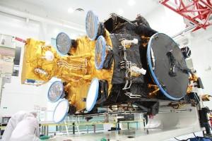 Athena-Fidus negli stabilimenti di Thales Alenia Space (C) TAS.