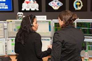 Flight Controller nella Columbus control room. Tutte le foto (C) DLR/Christian Ehrhardt.