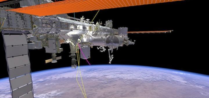 Una schermata di una sessione di addestramento SAFER al JSC. Fonte: NASA