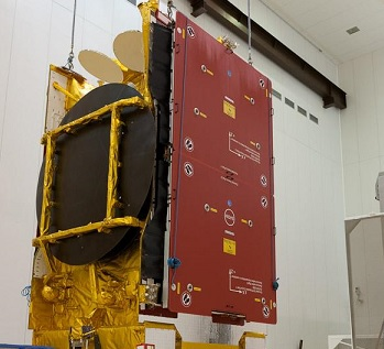 Il satellite Astra 5B pronto per il lancio. Credits: Arianespace