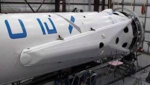 """Il particolare di una delle """"zampe"""" del Falcon 9 per la missione CRS-3. Credit: SpaceX."""