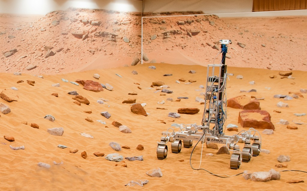 Il Mars Yard di Stevenage (C) Airbus Defence and Space 2014.