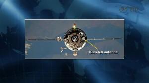 L'antenna AO-753A del sistema Kurs-NA.
