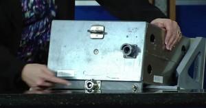 Un simulacro dell'unità MDM presentato nel corso della conferenza stampa - Cortesia NASA