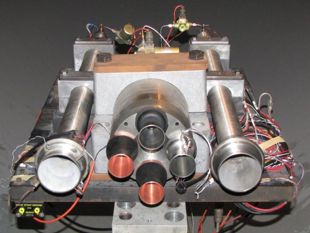 Il modello dello SLS realizzato per il Pathfinder Test Program. Credit: NASA/MSFC.