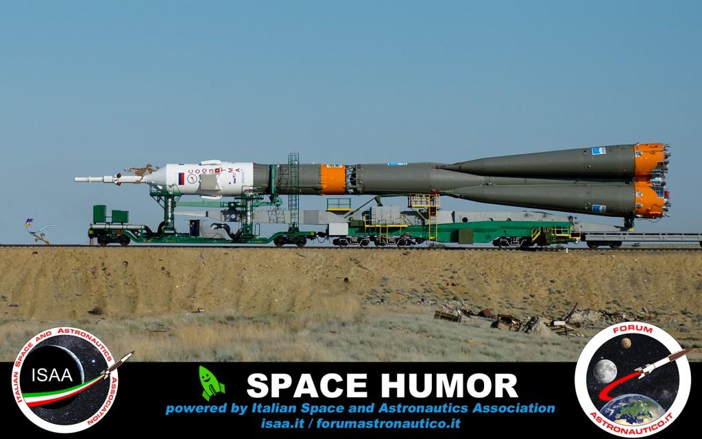 Rubata la Sojuz. Credit: Riccardo Rossi