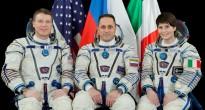 L'equipaggio della Soyuz TMA-15M in tuta Sokol: Terry Virts, Anton Shkaplerov e Samantha Cristoforetti. Credit: Gagarin Cosmonaut Training Center