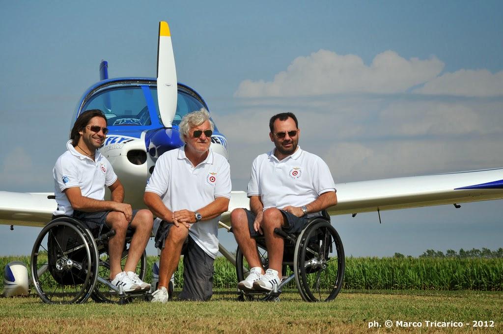 I piloti del WeFly! Team: Marco Cherubini, Alessandro Paleri e Erich Kustatscher. Credit: Marco Tricarico, WeFly! Team